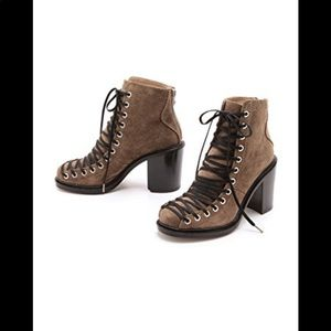 Elizabeth and James Teri Lace Up Booties
